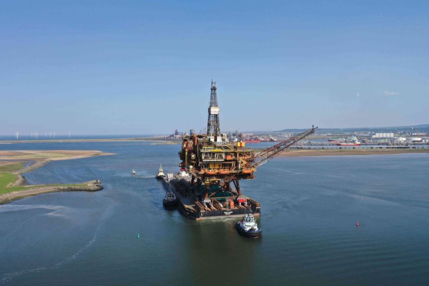 Bill Skidmore suggested an oil rig for the harbour after seeing the Brent Alpha coming to shore for decommissioning