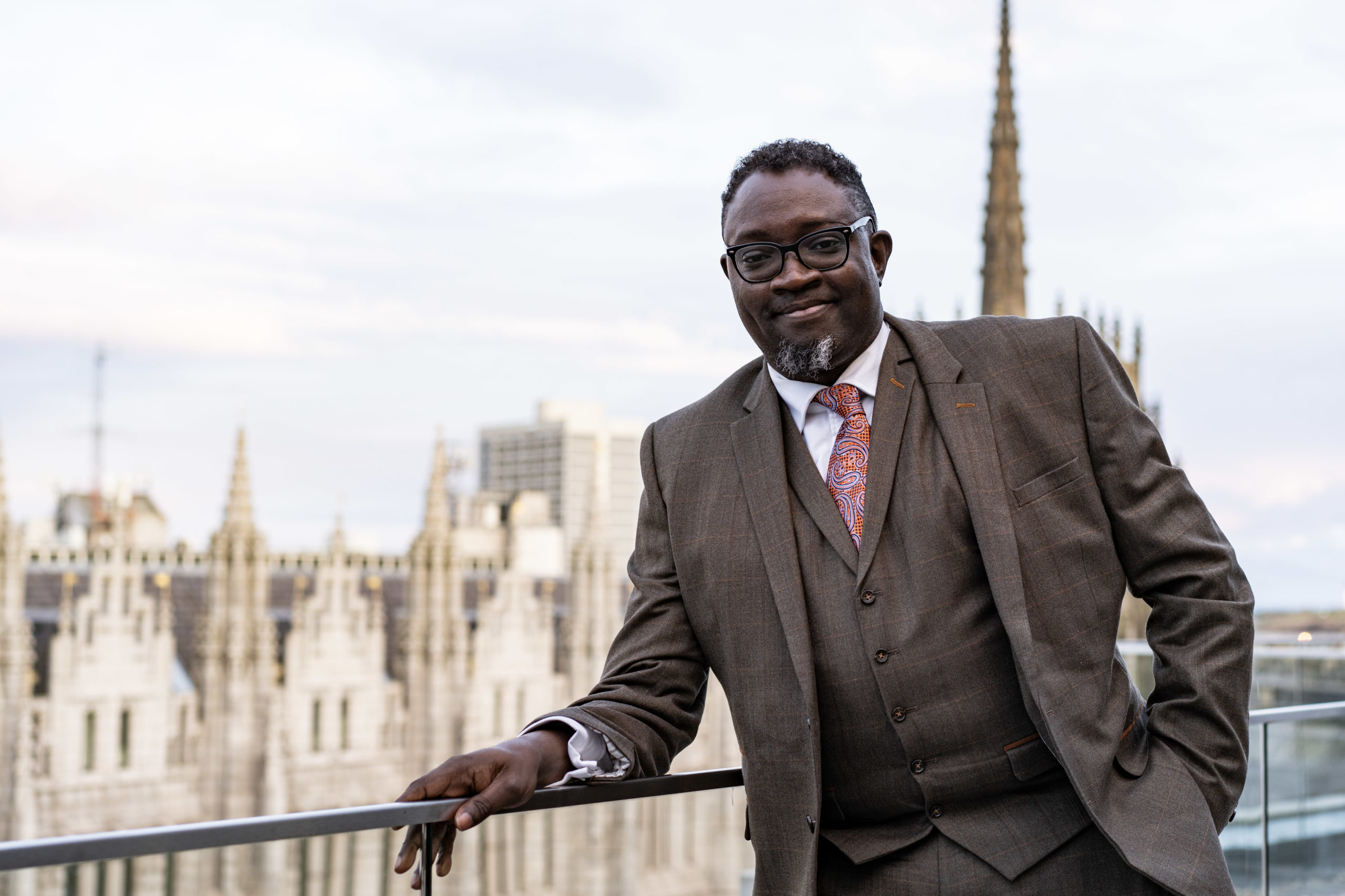 Ollie Folayan, chairman of AFBE-UK Scotland in Aberdeen.