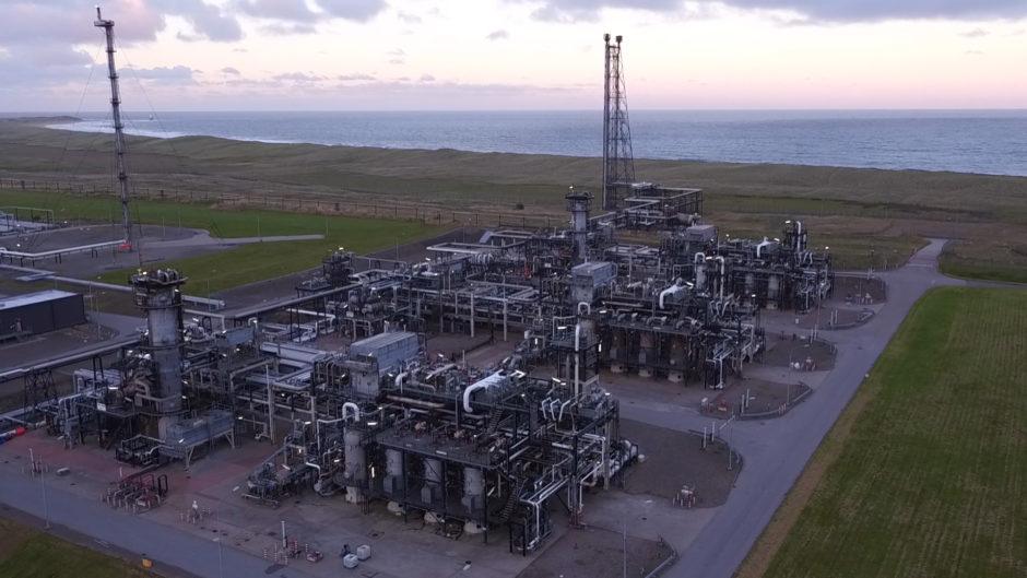 The St Fergus gas terminal in Aberdeenshire.