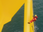 One of the Rigmar team working on the wind farm in Aberdeen Bay