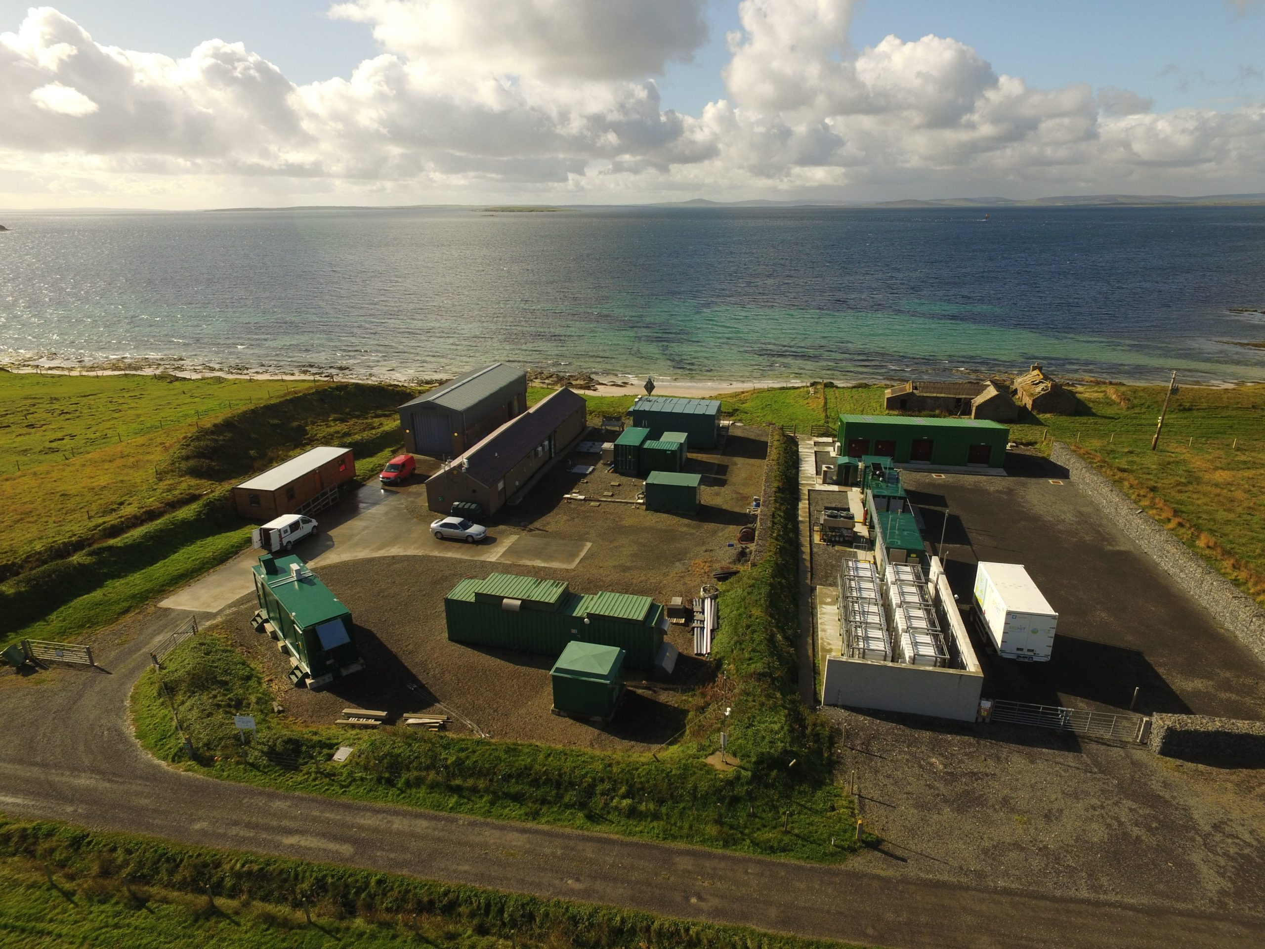 EMEC's hydrogen production facilities on the island of Eday