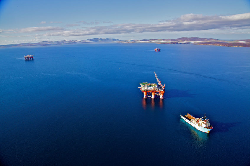 Oil and gas activity in the waters off Orkney