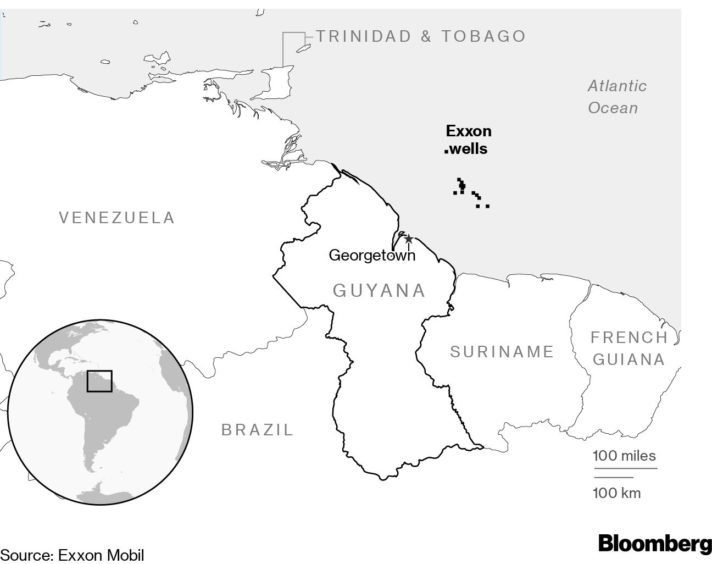 ExxonMobil has restarted drlling off Guyana, a new hot spot for the oil and gas industry.
