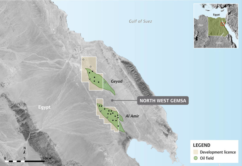 SDX has sold its declining North West Gemsa licence in Egypt to privately owned Gulf Energy.