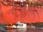 Fettercairn work boat takes on water and is hooked to the Foinaven FPSO.