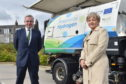 Cabinet Office Minister Michael Gove and Aberdeen City Council co-leader Jenny Laing.