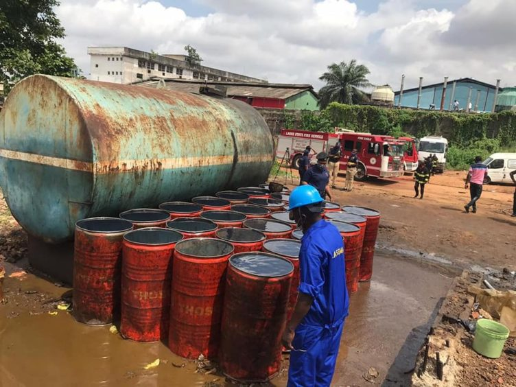 A fire in Lagos has drawn attention to Nigeria's downstream sector, amid a war of words between the oil minister and the unions over refineries and jobs.