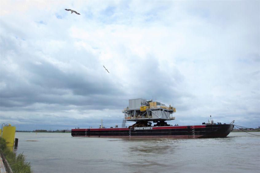 Siemens Energy OTM sail-away for Moray East OWF.