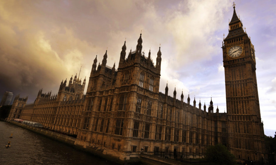 The Houses of Parliament in Westminster.
