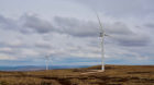 The Tom nan Clach windfarm in the Highlands