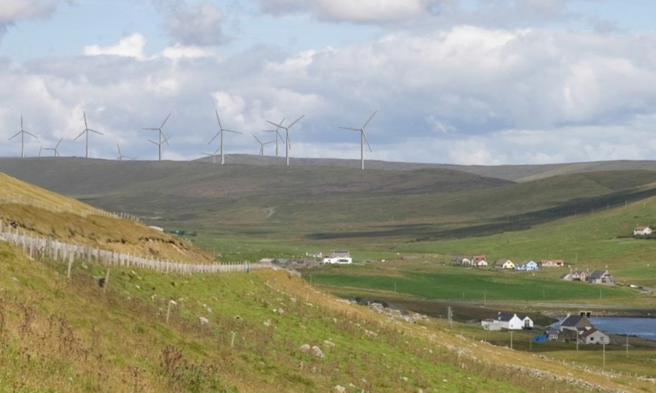 Construction work on the Viking wind farm got underway last month.