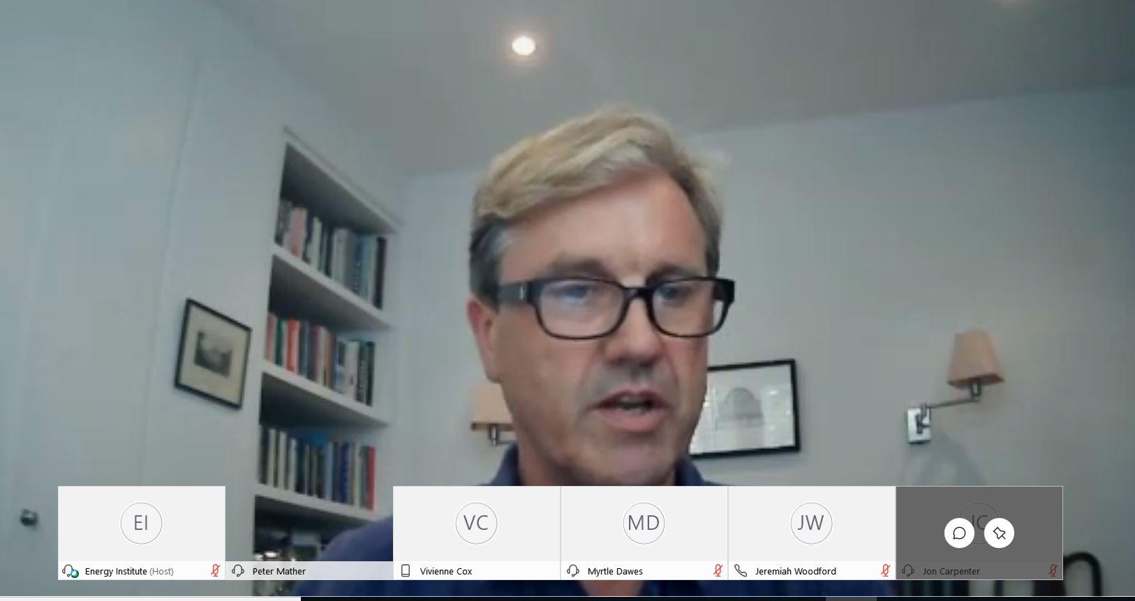 BP's Peter Mather spoke at EI's webinar on Thursday, alongside Petrofac, the OGTC, and IBM.