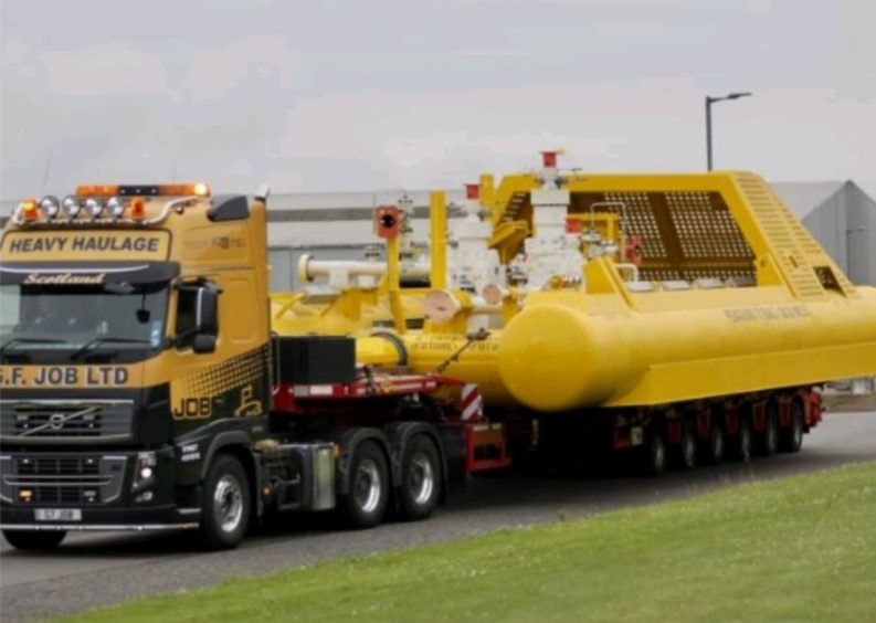 A subsea towhead destined for the Shell Penguins field.