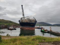 Voyageur Spirit FPSO arrives at Kishorn dry dock