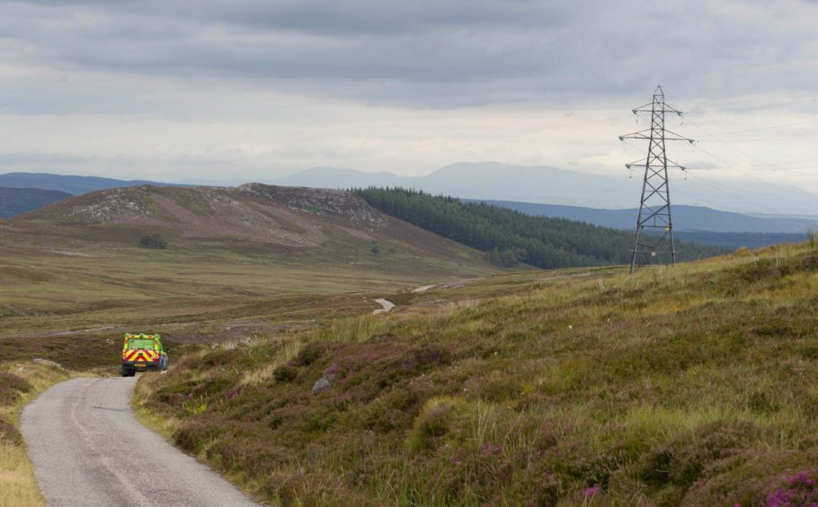 The power line between Fort Augustus and the Western Isles, via Skye, was created in the 1980s.