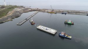 New caisson makes it a dozen for Aberdeen harbour extension