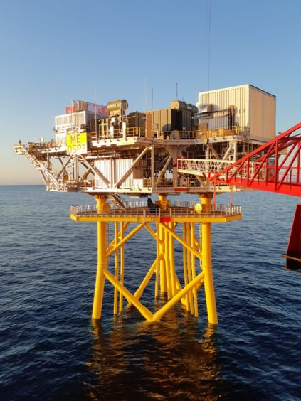 The offshore substation platform contains all the electrical infrastructure needed to transmit energy generated by the turbines onshore.