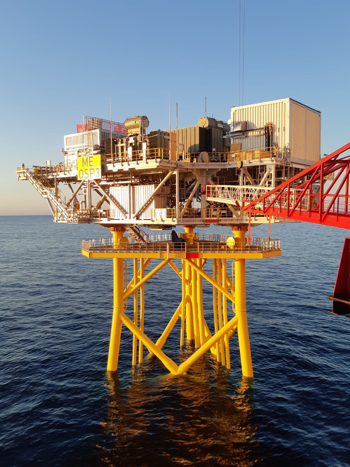 First of three offshore substation platforms installed at Moray East