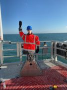 The 'Scaretech' device on the Galloper Offshore Wind Farm's substation.
