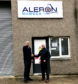 Mike Bisset, Aleron's founder and managing director, and John Walker, business manager.