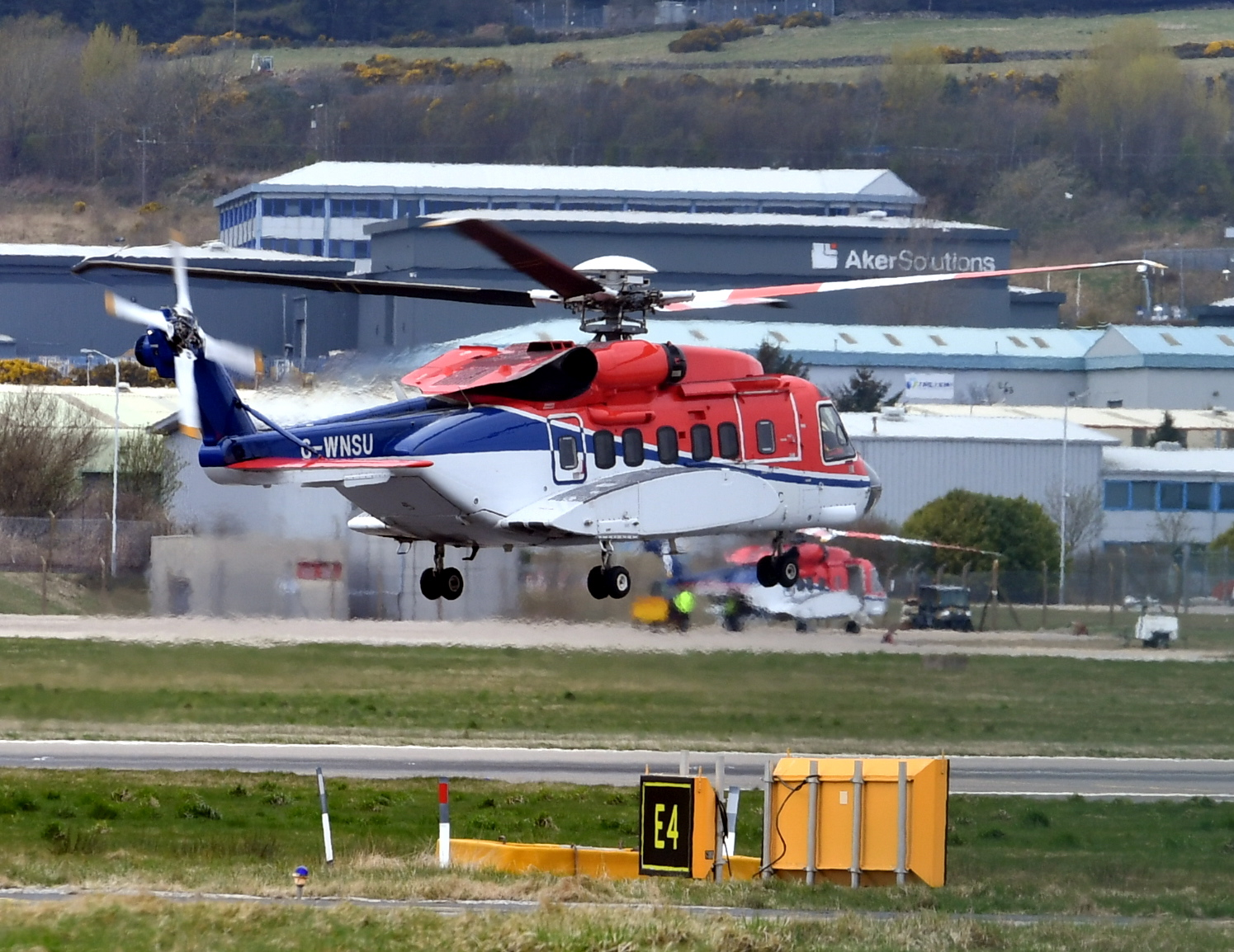 An S92 helicopter operated by CHC