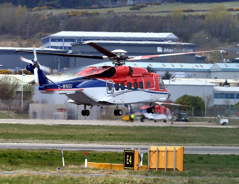 helicopter delays North Sea