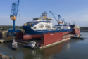 Prysmian's brand new cable-laying vessel Leonardo da Vinci will install Sofia's export cables.