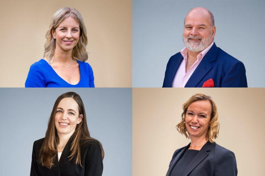 L-R Hazel Moffat, David Davidson, Dawn Reoch, Ashley Mawby