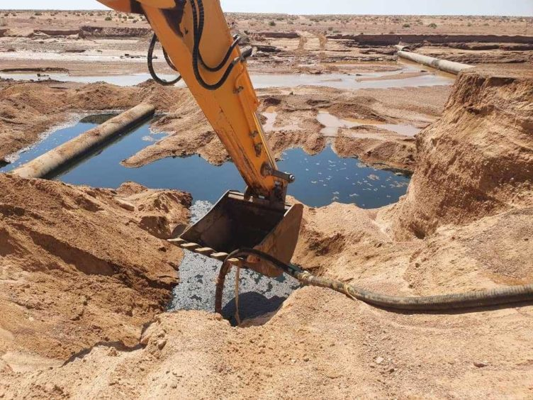 Sonatrach has blamed bad weather for two leaks on its OK1 pipeline, which runs from Hassi Messaoud to Skikda.