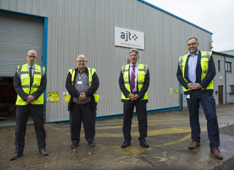 from left to right Alistair McGeough (Finance Director), David Milne (Business Development for Fabrication), Andy Dornan (Business Development Manager), Dave Scalley (Managing Director)