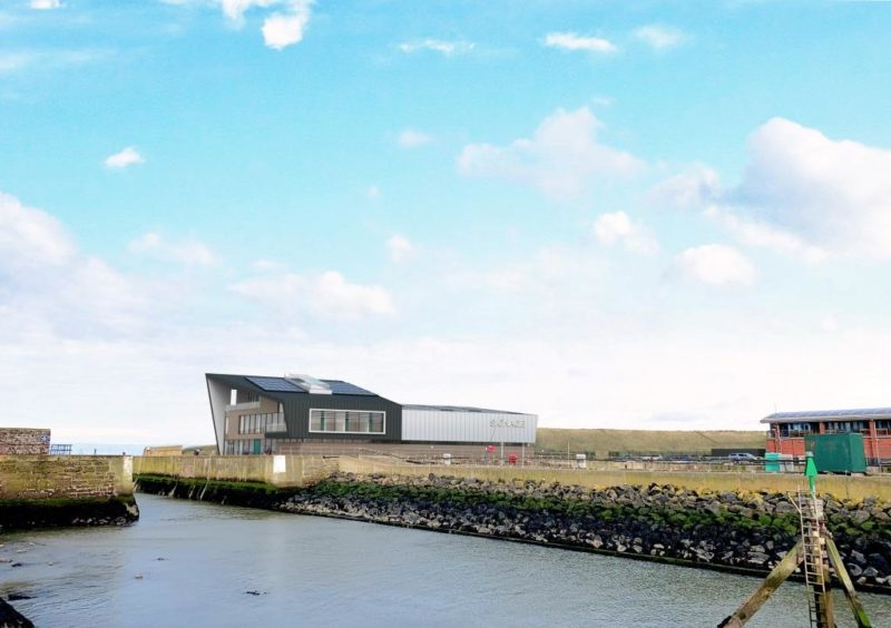 An artists impression of the planned operations and maintenance hub in Eyemouth (credit: NnG Offshore Wind Limited).