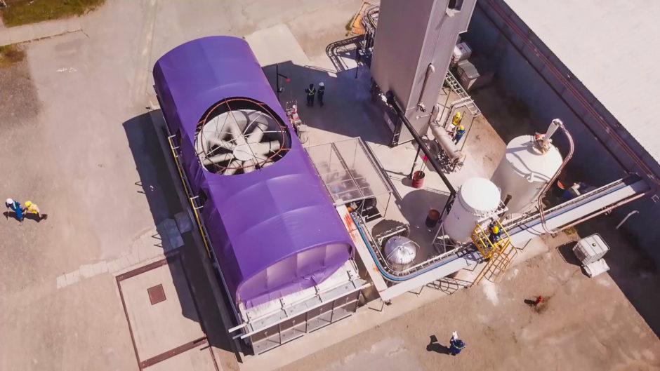 CE's pilot plant Direct Air Capture system