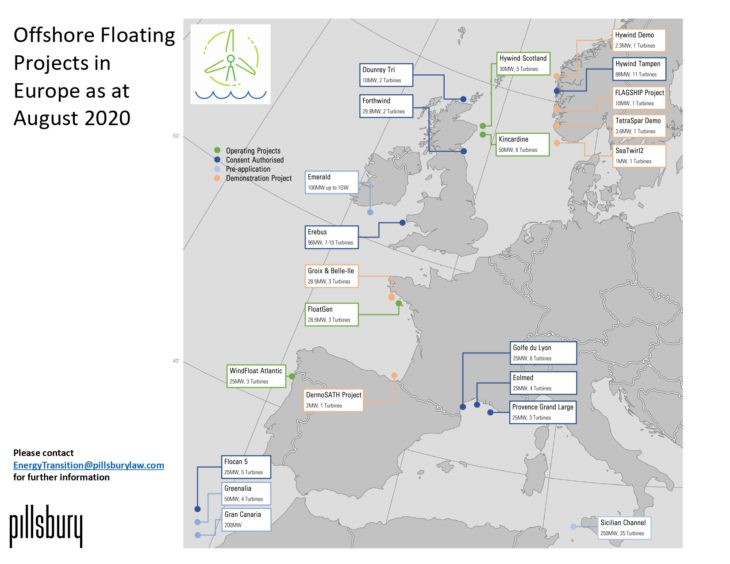 There are a range of floating wind plans across Europe