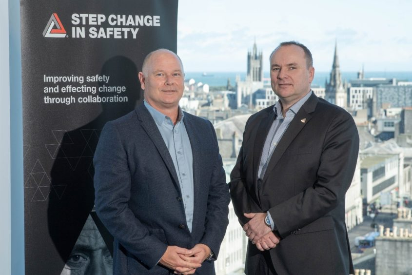 L-R: Bob Fennell, EVP Operations, Chrysaor, and Craig Wiggins, SVP HSSE, Aker Solutions. Co-Chairs, Step Change in Safety.