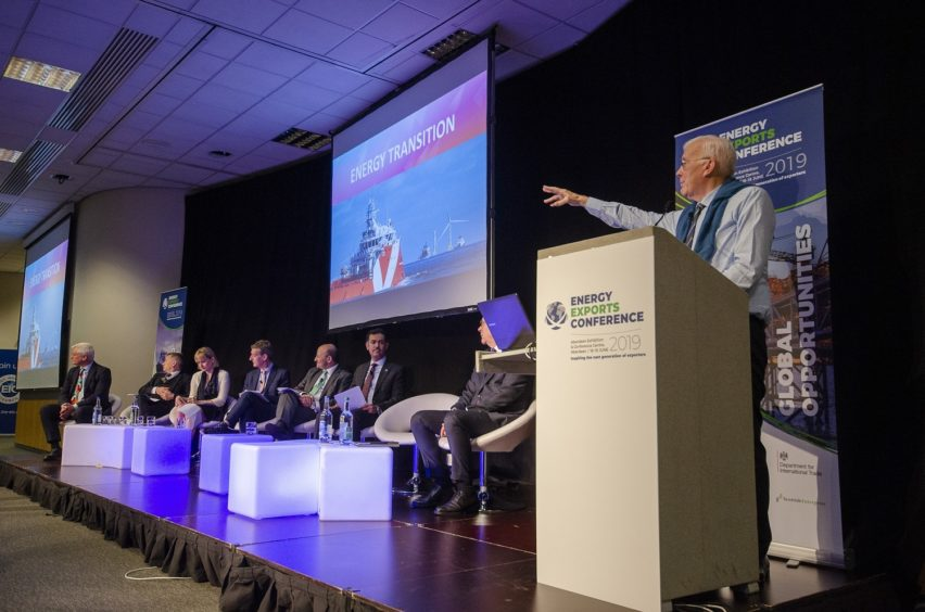 Sir Ian Wood at the inaugural Energy Exports Conference last year.