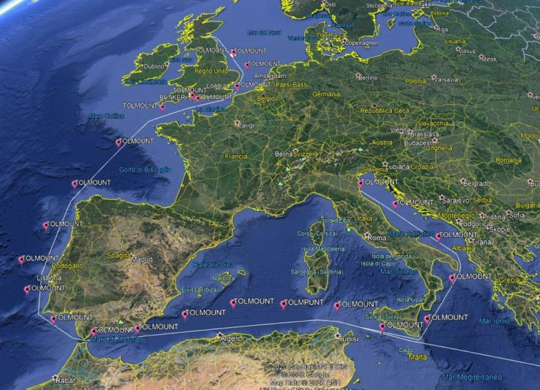 Tolmount completed a 3,350 nm journey.