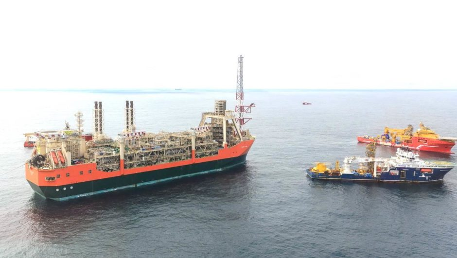 BP's Glen Lyon Floating Production Storage and Offloading vessel. North Sea.
