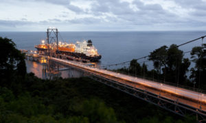 A pirate attack in Equatorial Guinea was thwarted by the hardened LNG carrier, but crew on the loading jetty were kidnapped.