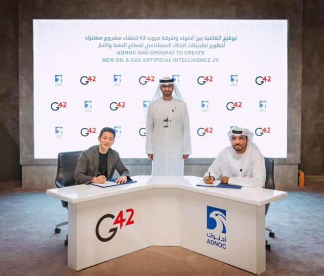 Adnoc has launched its AI joint venture with local company G42, with the aim of better management of local resources and helping local UAE industry.