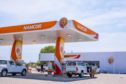 A Namcor fuel station in sunlight