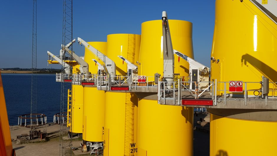 The GUS technology will allow technicians to be hoisted directly onto the turbine's platform from the ship.