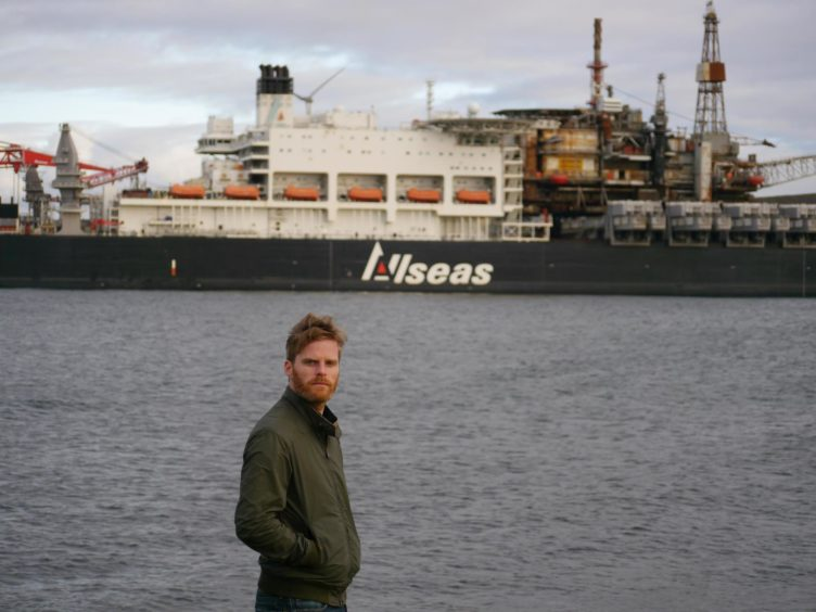 Joe Leask, OGUK's Decommissioning Manager, in Lerwick for the arrival of the Ninian North platform.