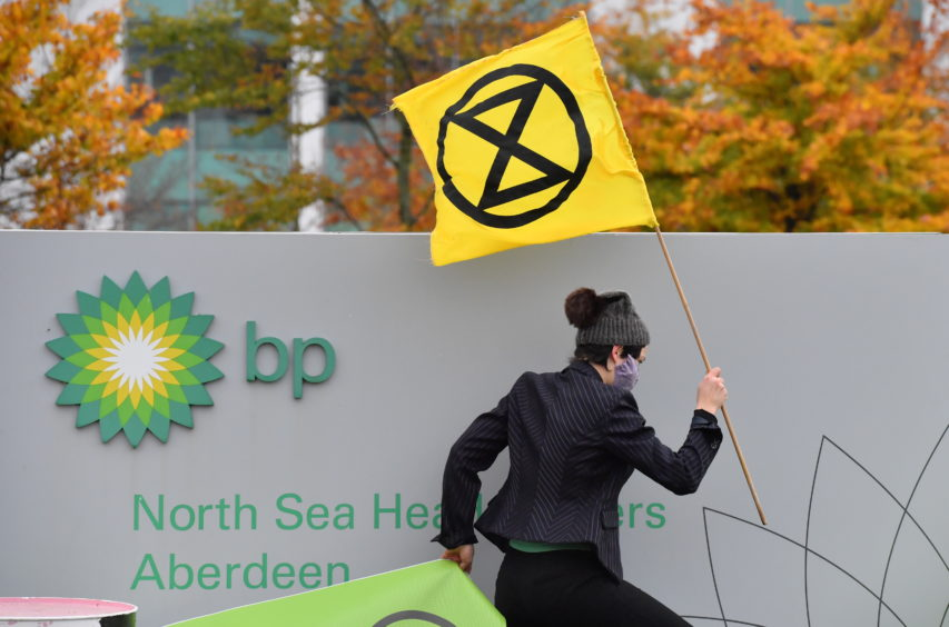 Extinction Rebellion targeted BP's Aberdeen office last year.