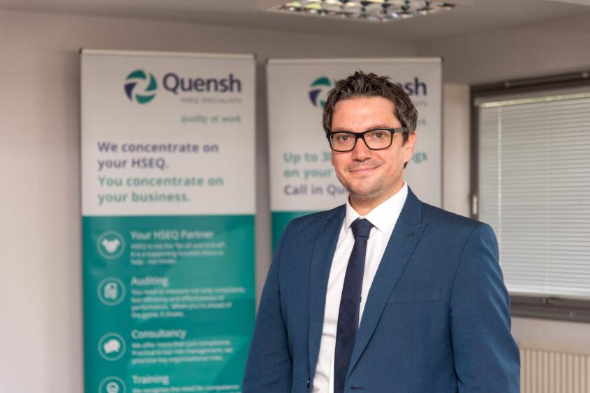 Quensh managing director Andy James