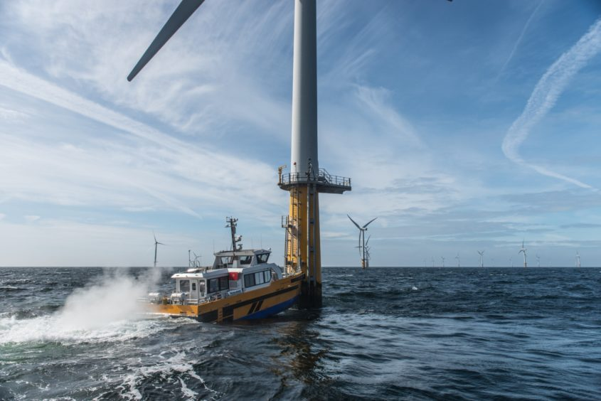 A crew transfer vessel (Credit: Workboat Association)