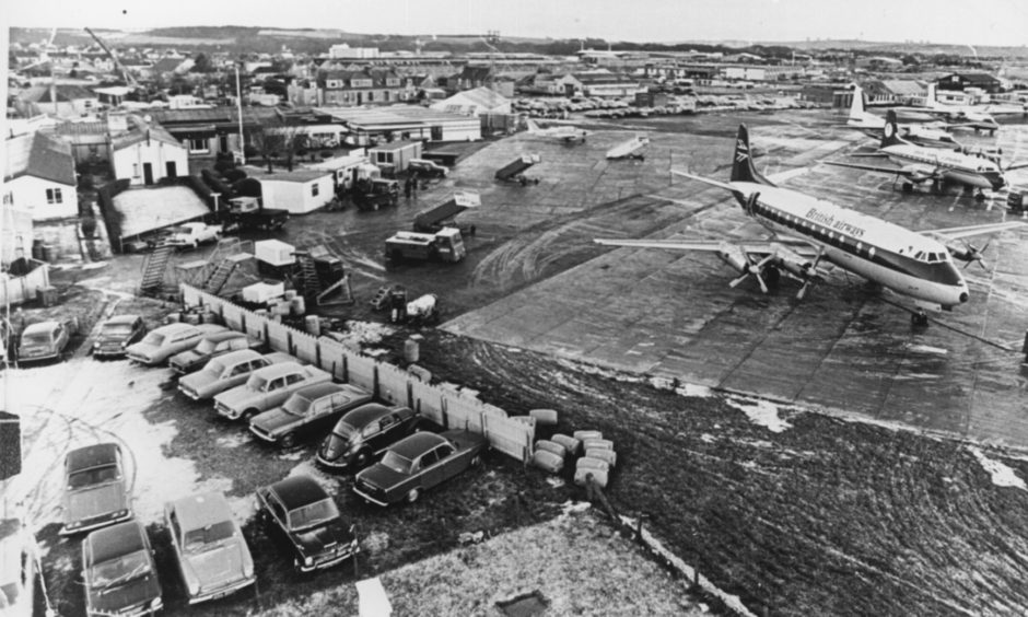 Aberdeen Airport, Dyce, in 1975.