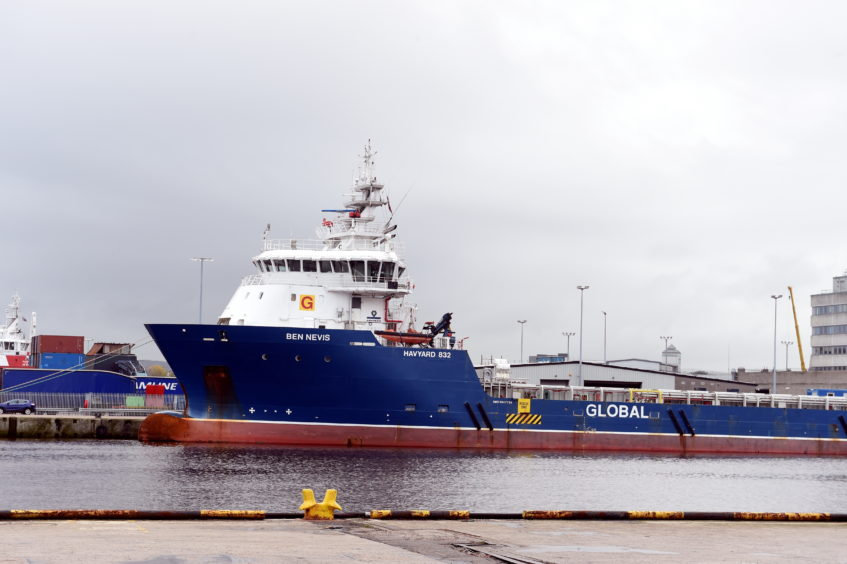 Ben Nevis supply vessel