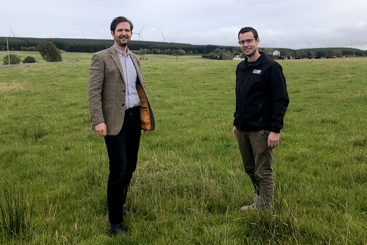 Robin Winstanley, sustainability and external affairs manager at Banks Renewables, and Alan Wells, project manager. Image: Banks Renewables