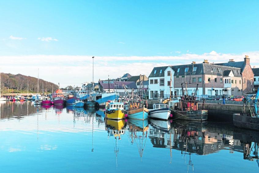 Stornoway Harbour, Isle of Lewis, Scotland.