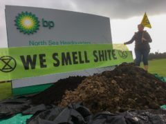 Extinction Rebellion dumps 'mounds of manure' outside BP Aberdeen offices